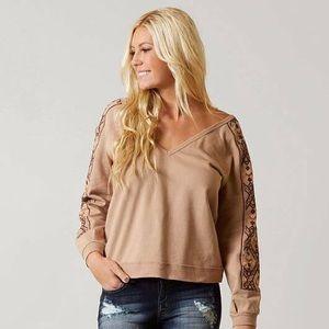 Gimmicks Raw Edge Embroidered Sweatshirt